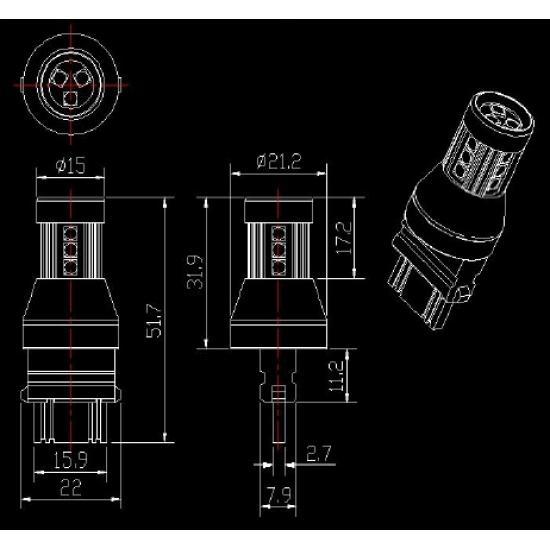 Сигнални крушки - T25 / 3157